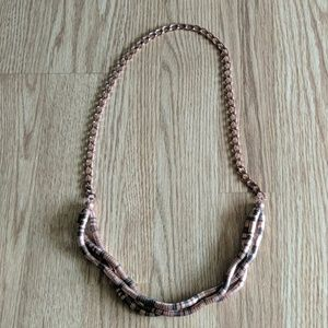 Bronze and brown statement necklace